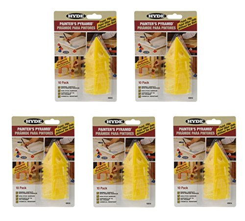 Hyde TOOLS 43510 Painters Pyramid, 5 Pack (50 Pyramids Total) by Hyde
