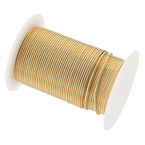 18 Gauge The Bead SmithTM Tarnish Resistant Craft Wire - Gold 10 (Wire 10 Yard Spool)
