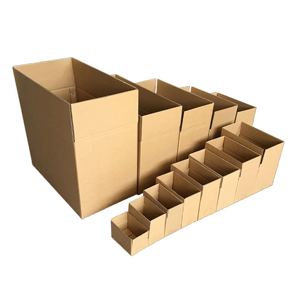 KKCF-HE Cajas De por Cartón 10/20 por De Paquete Marrón Caja De Cartón Corrugado Presión Compresiva Resistente Al Desgaste Almacenamiento Suministros De Correo, 9 Tamaños b61b0b