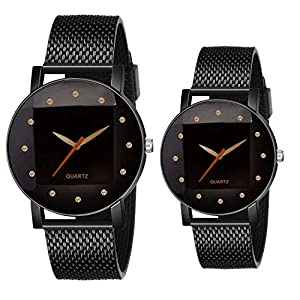 On Time Octus Analog Black Dial Mens and Womens Couple Watch – RADD 12 Dia