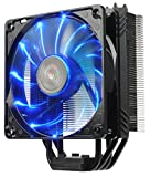 Enermax ETS-T40 Fit Outstanding Cooling Performance CPU Cooler 200W Intel/AMD 120mm LED Fan - Black, ETS-T40F-BK