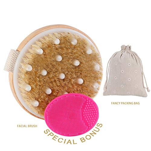 - Dry Brushing Body Brush,Natural Boar Bristle Cellulite Brush Body Brush, Remove Dead Skin And Toxins, Cellulite Treatment, Improves Lymphatic Functions, Exfoliates, Stimulates Blood Circulation