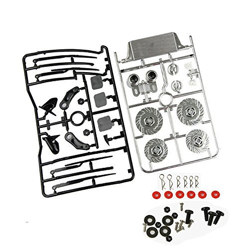 Coolplay 1/10 Body Accessory Vehicle Spare Parts Set for RC Road Car---Silver ()