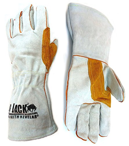 Better Grip Leather Welding Gloves with Premium Kevlar Stitching, Gunn-Cut
