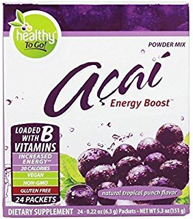 To Go Brands Acai Energy, Tropical Punch Flavor, 24-Count Boxes by To Go Brands
