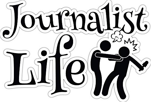 4 All Times Journalist Life Automotive Car Decal for Cars, Trucks, Laptops (5.0