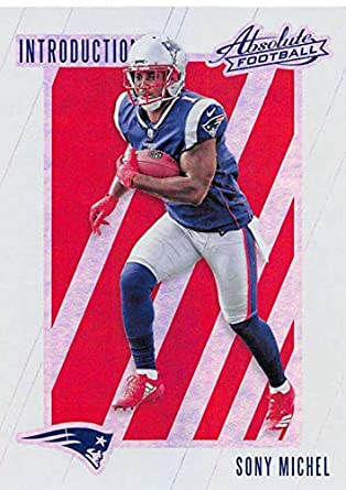 8285cbd2017 2018 Absolute Football Introductions  9 Sony Michel New England Patriots RC  Rookie Card