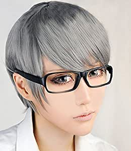 Anogol Free Hair Cap+ Persona 4 the Animation Narukami Yu Cosplay Wig
