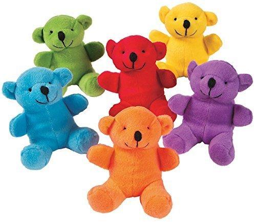 marcas de diseñadores baratos Bright Color Bears (12 Pack) 4. 4. 4. Plush. by Oriental Trading Company  las mejores marcas venden barato