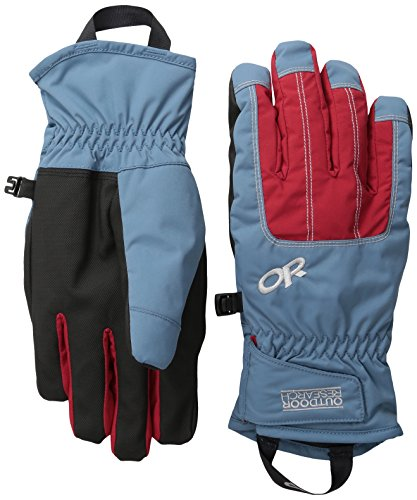 Outdoor Research Women's Riot Gloves, Vintage/Agate/Alloy, Large (Riot Ski)