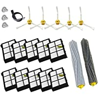 17pcs Tangle-Free Debris Extractor Set & Side Brush & Hepa Filter For iRobot Roomba 800 series 805 860 861 870 871 880 885 966 980 Vacuum Cleaning Robots Parts