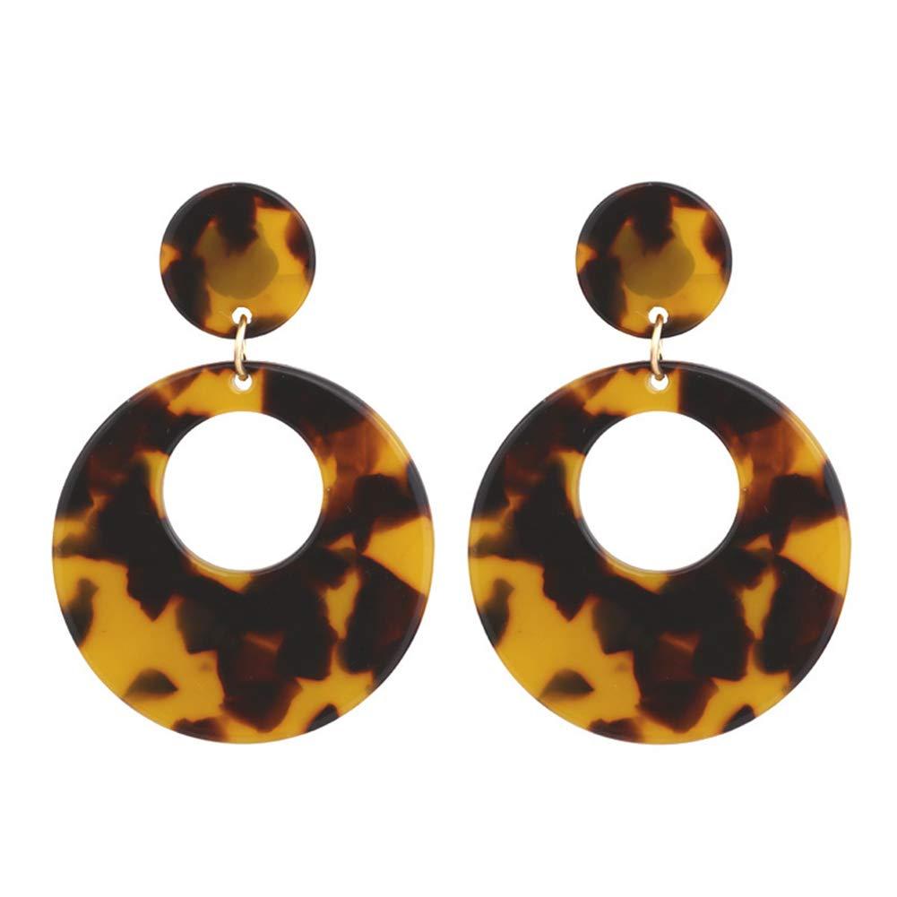 Townshine Fashion Drop Hoops Earrings Acrylic Resin Hoops Earrings for Women Girls