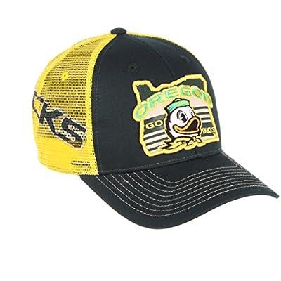 Zephyr NCAA Oregon Ducks Men's Interstate Trucker Cap, Adjustable, Forest Green from Zephyr Graf-X