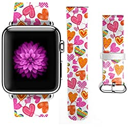 For Apple Watch 38mm Band - Valentines Sweet Colorful Hearts
