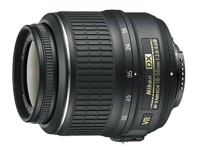 Nikon 18-55mm f/3.5-5.6G AF-S DX VR Nikkor Zoom Lens by Nikon