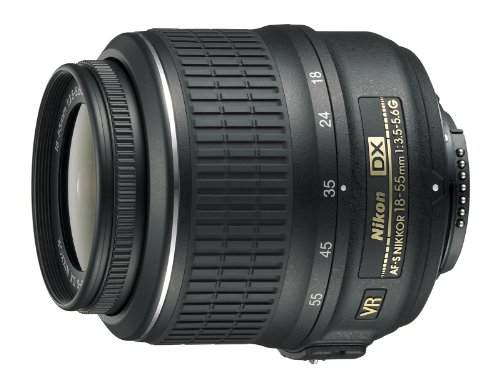 Nikon 18-55mm f/3.5-5.6G AF-S DX VR Nikkor Zoom Lens – White Box (New) (Bulk Packaging)