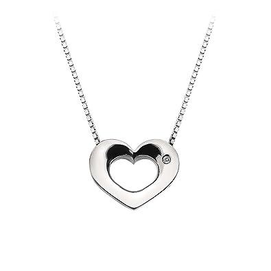 Hot Diamonds Levanter Small Heart Pendant with Chain of 40-42.5cm AlPzxKW
