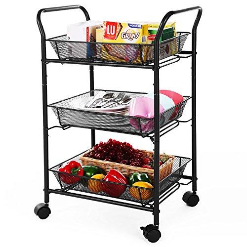 SONGMICS 3 Tier Rolling Storage Cart ...