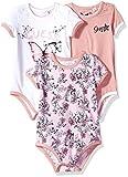 GUESS Baby Girls' 3 Piece Set Bodysuit, Biarritz Rose Combo, 3/6M
