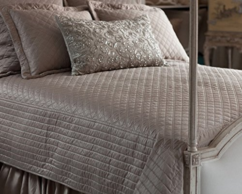 Lili Alessandra OLQ500KTT S&S Coverlet, Taupe, 112