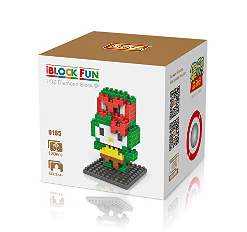GRHOSE LOZ Diamond Blocks Nanoblock Hello Kitty Featuring Ninja Turtle Educational Toy 130pcs