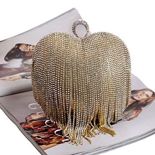 Nappa A Strass Gold Per Cuore Silver Forma Da Pochette color Con Di Donna Sera q5Cfd