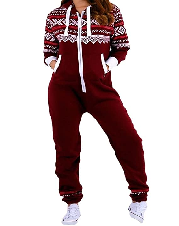 Amazon.com: Janisramone New Kids Girls Boys Aztec Print Zipup All In One Fleece Hooded Jumpsuit Playsuit: Clothing