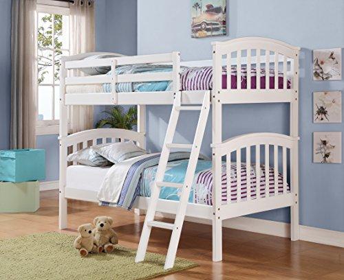 Columbia White Twin/Twin Bunk Bed