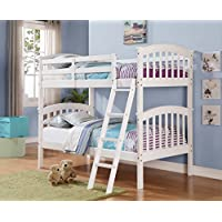 Columbia White Twin/Twin Bunk Bed
