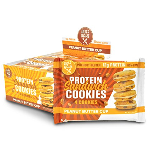 Buff Bake Protein Sandwich Cookies, Peanut Butter Cup, 1.79oz, 8 count -