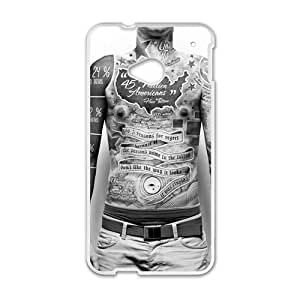 Personalized Clear Phone Case For HTC M7,men body tattoo
