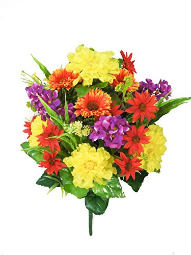 Admired By Nature GPB3329-Country 18 Stems Zinnia, Daisy, Lupine, Country, Piece by Admired By Nature (Image #1)