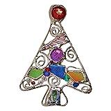 Art Glass Christmas Tree Pin - Hand Made Connie Bennett Designed Brooch