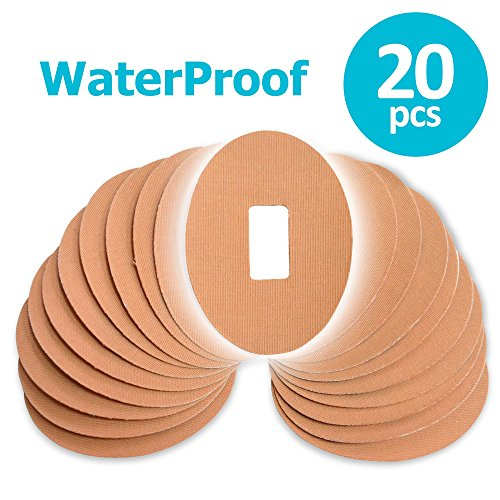 Fixic Patches For G4 G5  Waterproof Adhesive  Oval  Pre Cut  Best Fixation For G4 G5  Tan Color  Pack Of 20