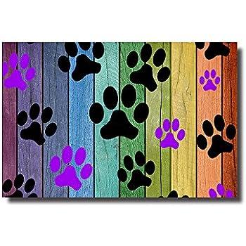 Amazon Com Vandarllin Colorful Puppy Paws Decorative