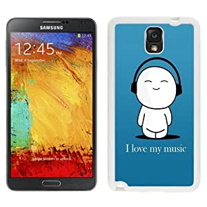 NEW Unique Custom Designed For Case Samsung Galaxy S5 Cover Phone Case With I Love My Music Cartoon_White Phone Case