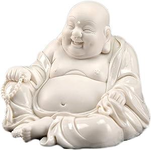 LHMYGHFDP Big Belly Maitreya Buddha Statue Sculpture Car Decor Feng Shui Mascto Zen Garden Indoor/Outdoor Decoration Art Lucky Statue