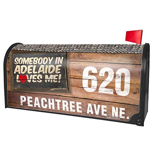 NEONBLOND Custom Mailbox Cover Somebody in Adelaide Loves me, Australia]()