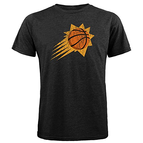 fan products of NBA Phoenix Suns Men's Premium Triblend Crew Tee, X-Large, Black