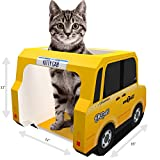 Moggiez & Doggiez CAT House, CONDO & Cats CAVE Cardboard Tower for Scratching, Sleep or Play - Free Toys & EBook Included - Pet Bed (NYC CAB)