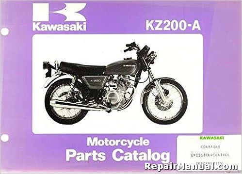 R99910 1027 01 1978 Kawasaki Kz200 A Motorcycle Parts Manual