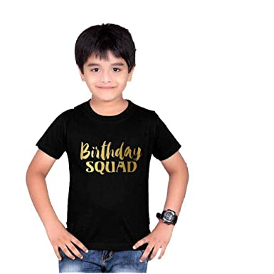 f53773a1 Melcom Cotton Black Round Neck Birthday t Shirt for Boys: Amazon.in:  Clothing & Accessories