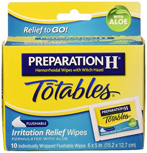 (Preparation H Totables Irritation Relief Wipes 10 Each (Pack of)