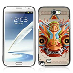 Designer Depo Hard Protection Case for Samsung Galaxy Note 2 N7100 / Psychedelice Colorful Mask