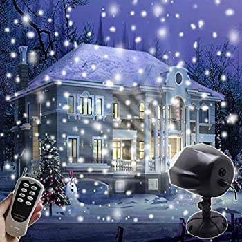 AIDERLY Indoor Outdoor LED Christmas Lights Snow Projector Waterproof Motion  Rotating Snowfall Light Spotlight Projection for - Amazon.com: AIDERLY Indoor Outdoor LED Christmas Lights Snow