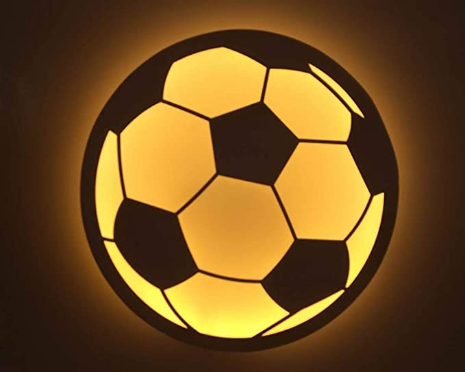 WORLED- Aplique LED de pared en forma de PELOTA/FUTBOL (LUZ Blanco ...