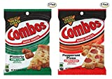 COMBOS Pepperoni Pizza Cracker & Pizzeria Cracker Baked Snacks, 6.3-Ounce Bag (Pack of 2 and 2)
