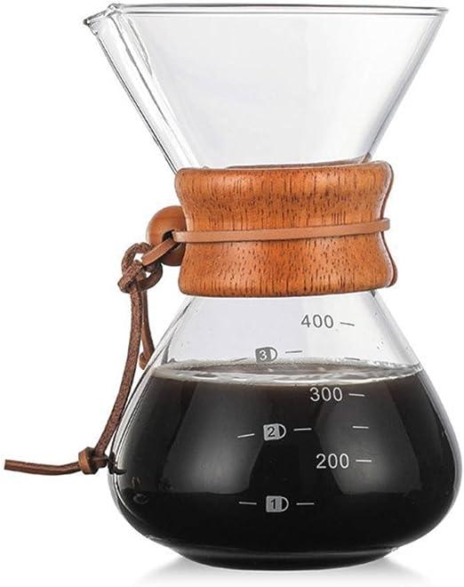 YJZ Cafetera de Cristal Estilo Chemex para Verter sobre cafetera + ...