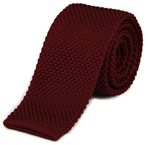 Woven Tie (AngelShop Vintage Smart Casual Mens Solid 2