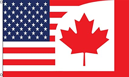 b1adb4810b23 Image Unavailable. Image not available for. Color  Best Flags USA Canada  Combo Polyester Outdoor Flag ...